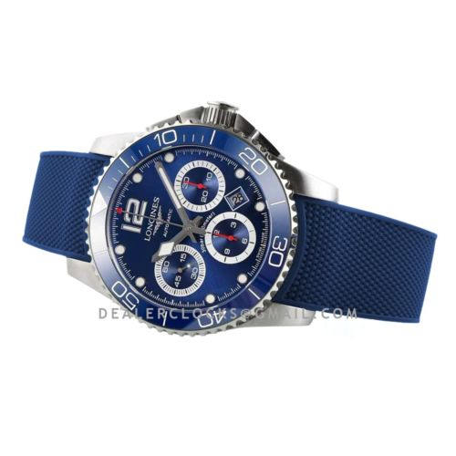Hydroconquest Blue Dial on Rubber Strap