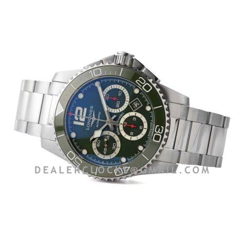 Hydroconquest Green Dial on Bracelet