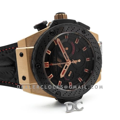 King Power F1 Black Dial Chronograph in Rose Gold
