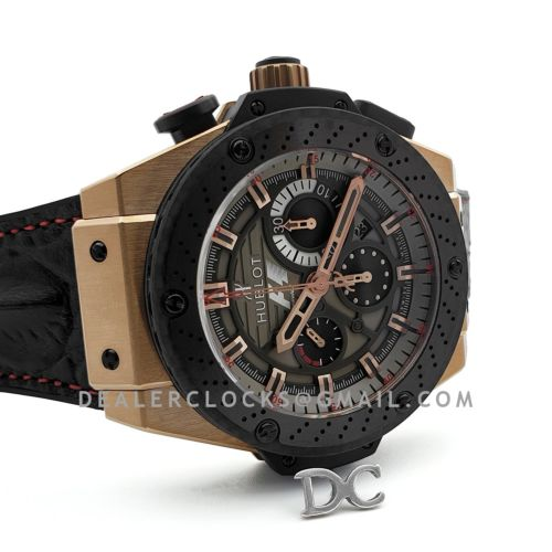 King Power F1 Grey Dial Chronograph in Rose Gold
