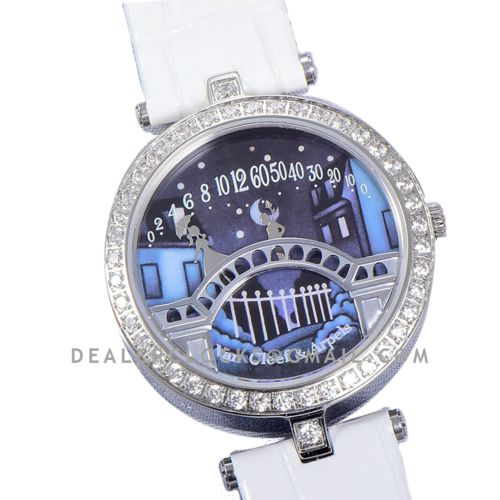 Lady Arpels Pont des Amoureux in White Leather Strap