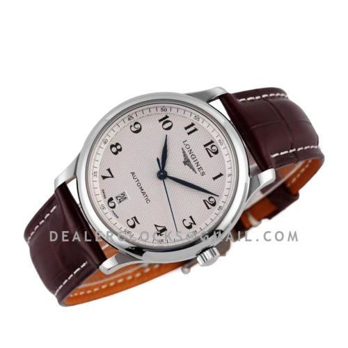 Master Collection White Dial on Brown Leather Strap