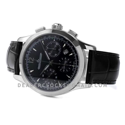 Master Control Chronograph Black Dial in Steel