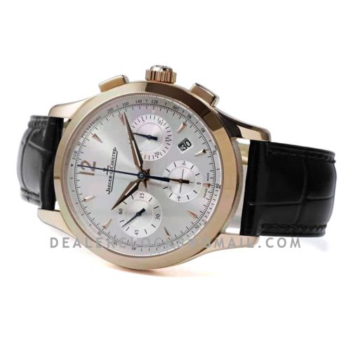 Master Control Chronograph White Dial in Pink Gold