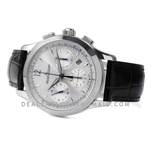 Master Control Chronograph White Dial in Steel