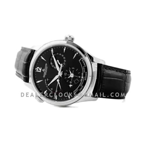 Master Control Geographic Black Dial in Steel