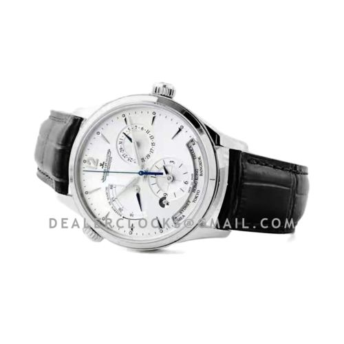 Master Control Geographic White Dial in Steel