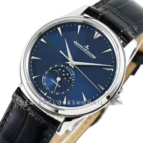 Master Ultra Thin Moon 39mm Blue dial in Steel