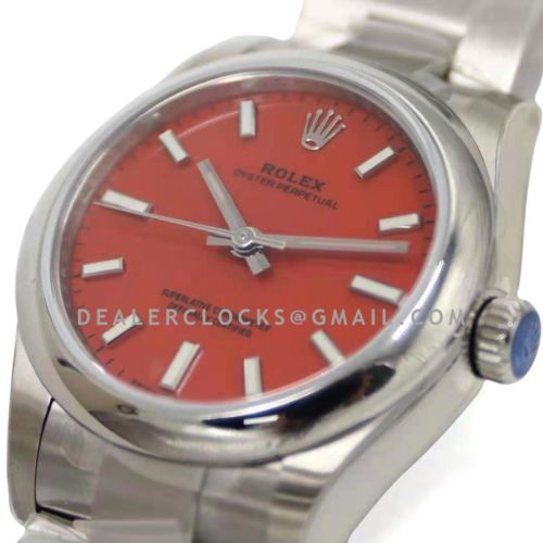 Oyster Perpetual 31mm Coral Red Dial 277200