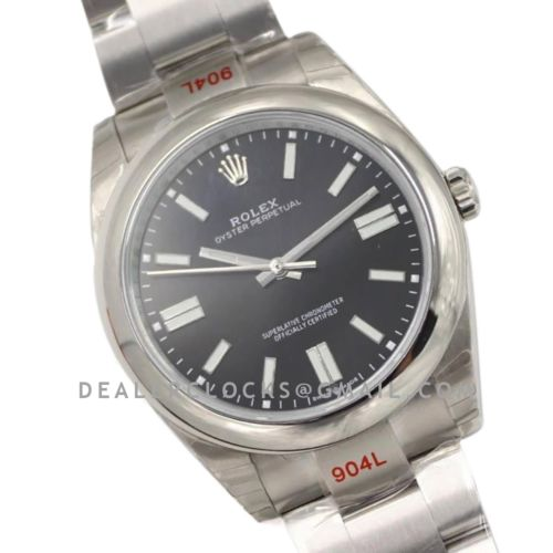 Oyster Perpetual 41mm Bright Black Dial 114300
