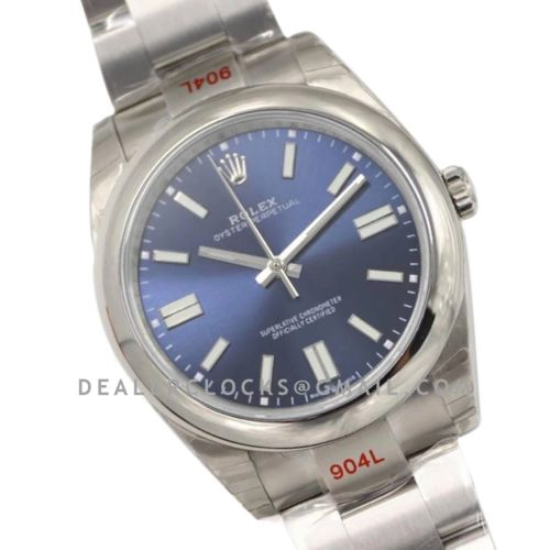 Oyster Perpetual 41mm Bright Blue Dial 114300