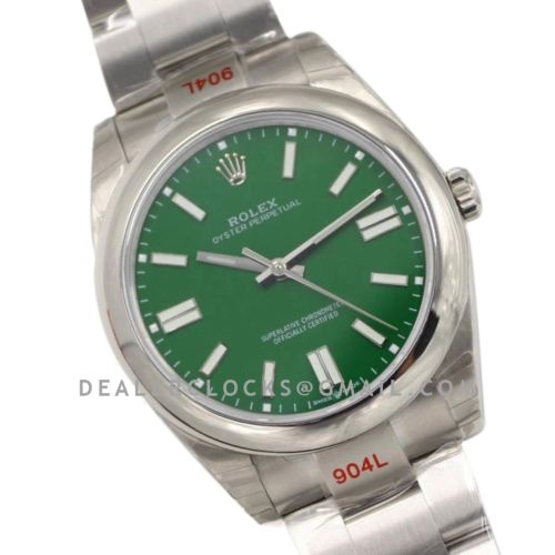 Oyster Perpetual 41mm Green Dial 114300