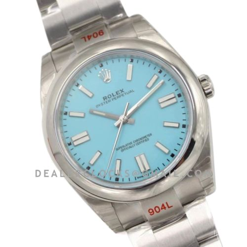 Oyster Perpetual 41mm Turquoise Blue Dial 114300