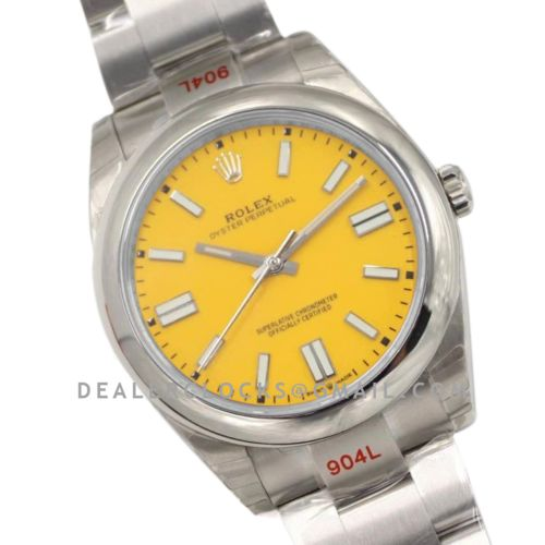 Oyster Perpetual 41mm Yellow Dial 114300