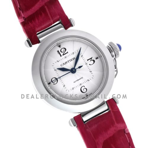 Pasha de Cartier 35mm in Pink Leather Strap