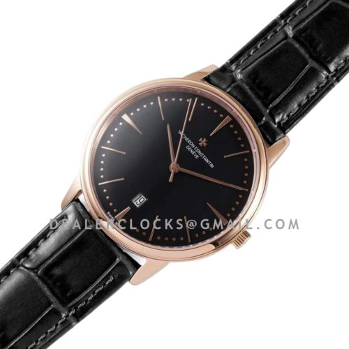 Patrimony Black Dial in Pink Gold Ref: 85180