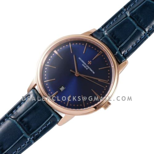 Patrimony Blue Dial in Pink Gold Ref: 85180