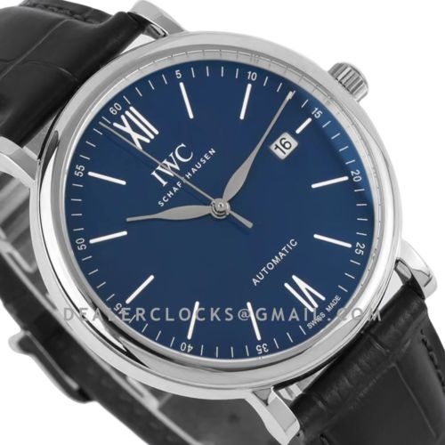 Portofino Automatic IW356518 Blue Dial with White Markers in Steel