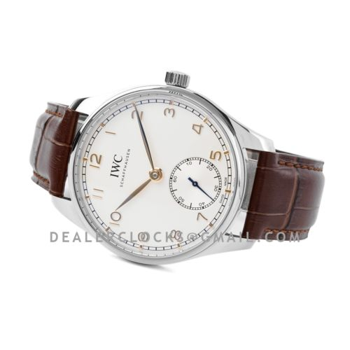 Portugieser Automatic 40 IW358303 White Dial in Steel