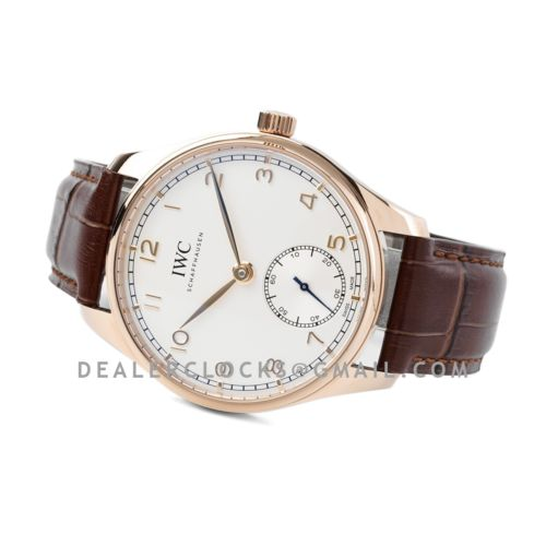 Portugieser Automatic 40 IW358306 White Dial in Rose Gold