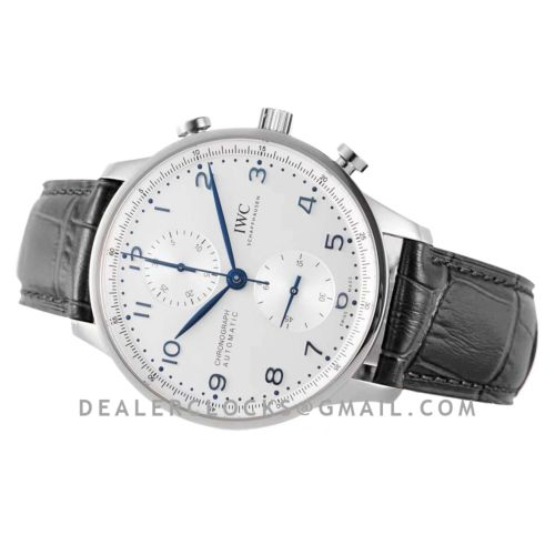 Portugieser Chronograph IW371605 White Dial in Steel