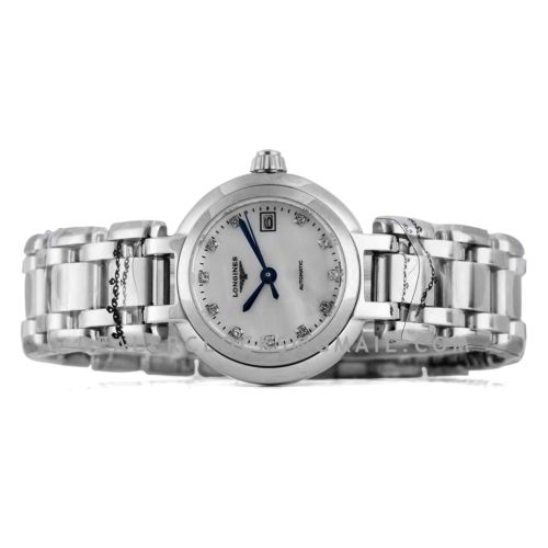 Primaluna MOP White Dial with Diamond Markers