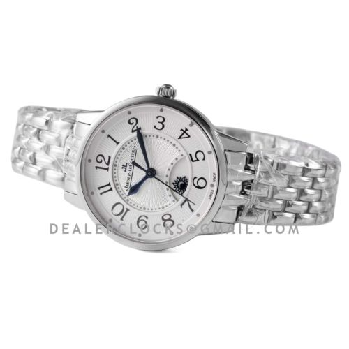Rendez-vous Classic Night & Day 34mm White Dial in White Gold on Bracelet