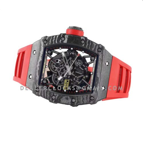 RM 035-02 Rafael Nadal NTPT Carbon on Red Rubber Strap
