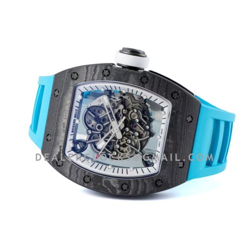 RM 055 Bubba Watson Americas Edition White Legend in NTPT on Blue Rubber Strap