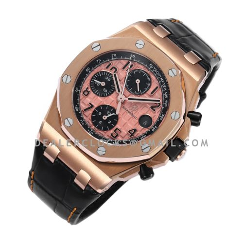 Royal Oak Offshore Gold Themes on Leather Strap