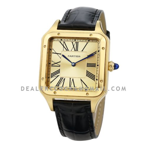 """Santos-Dumont """"La Baladeuse"""" Limited Edition 49mm Champagne Dial in Yellow Gold"""