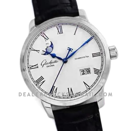 Senator Excellence Panorama Date Moon Phase in Steel