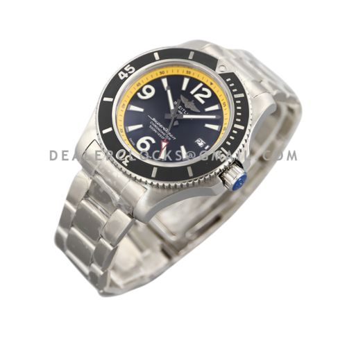Superocean Automatic 44mm in Black/Yellow Dial on Black Bezel