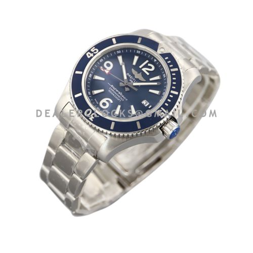 Superocean Automatic 44mm in Blue Dial on Blue Bezel Ref: A17366D81C1A1