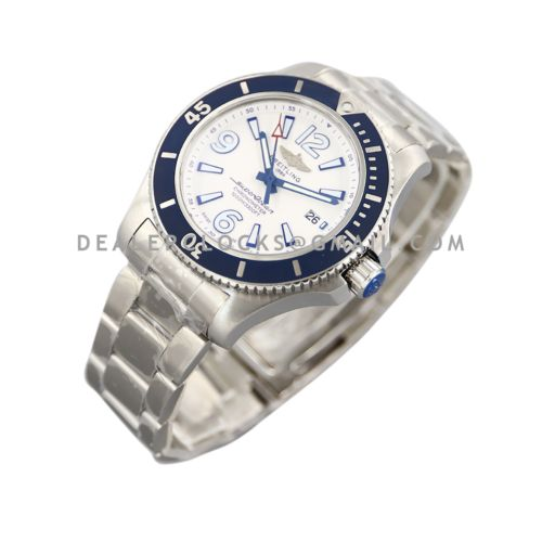 Superocean Automatic 44mm in White Dial on Blue Bezel