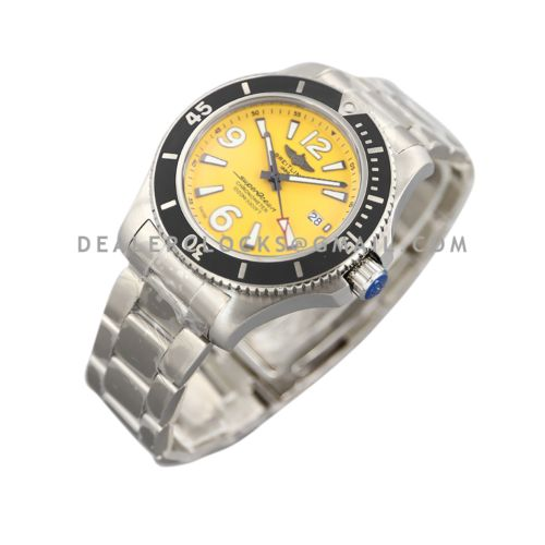 Superocean Automatic 44mm in Yellow Dial on Black Bezel Ref: A17367021I1A1