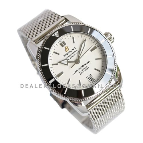 Superocean Heritage II B20 Automatic 42mm in White Dial on Black Bezel