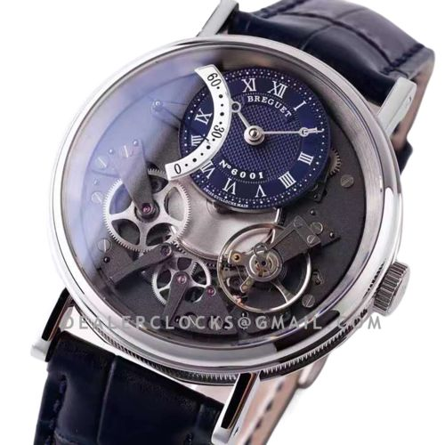 Tradition 7097BB Blue Dial in White Gold