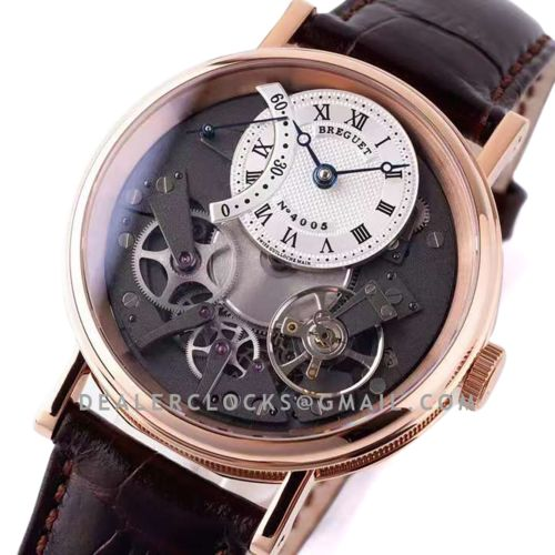 Tradition 7097BR/G1/9WU White Dial in Rose Gold